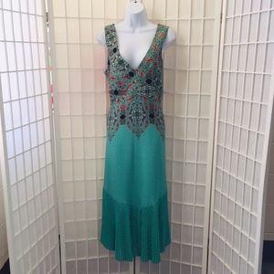 MAEVE green print maxi halter dress / 6.
